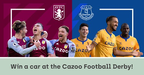 QuizWizards partners with Cazoo to give away a £10,000 car during the Aston Villa v Everton game on May 13th!